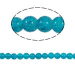 Glass Beads kërcitje, Xham, Round, asnjë, blu, 10mm, : 2mm, :31Inç, 82PC/Fije floku,  31Inç,