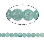 Glass Beads kërcitje, Xham, Round, asnjë, e gjelbër, 10mm, : 2mm, :31Inç, 82PC/Fije floku,  31Inç,
