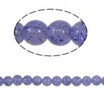 Glass Beads kërcitje, Xham, Round, asnjë, vjollcë, 10mm, : 2mm, :31Inç, 82PC/Fije floku,  31Inç,