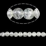 Glass Beads kërcitje, 10mm, : 2mm, :31Inç, 82PC/Fije floku,  31Inç,