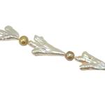 Barok Beads kulturuar Pearl ujërave të ëmbla, Pearl kulturuar ujërave të ëmbla, 45-26mm, : 0.8mm, :15Inç,  15Inç,