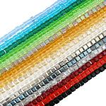 Imitim Swarovski Crystal Beads, Kristal, Kub, asnjë, faceted & imitim kristal Swarovski, ngjyra të përziera, 6mm, : 1mm, :16Inç, 10Fillesat/Qese,  Qese