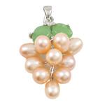 Pendants Pearl ujërave të ëmbla, Pearl kulturuar ujërave të ëmbla, with Tunxh & Alloy zink, Hardhi, natyror, rozë, 13x35mm, 6-7mm, : 3x5mm,  PC