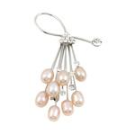 Pearl ujërave të ëmbla karficë, Pearl kulturuar ujërave të ëmbla, with Tunxh, Lule, rozë, 7-8mm, 40x72mm,  PC