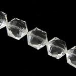 Gjashtëkëndësh Beads Crystal, Kristal, Kristal, 14x16x9mm, :11.5Inç, 20PC/Fije floku,  11.5Inç,