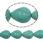 Bruz Beads, Bruz sintetike, Lot, e gjelbër, 12x16mm, : 1mm, : 15.5Inç, 26PC/Fije floku,  15.5Inç,
