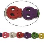 Bruz Beads, Bruz sintetike, Kafkë, ngjyra të përziera, 13x15x4mm, : 1mm, :15.5Inç, 27PC/Fije floku,  15.5Inç,