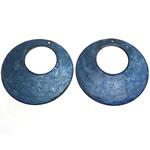 Pendants Shell, Predhë, Petull e ëmbël në formë gjevreku, 65x65x2-3mm, : 2, 28mm, 50PC/Qese,  Qese