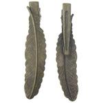 Gjetjet clip flokët, Tunxh, i praruar, , nikel çojë \x26amp; kadmium falas, 12x53x1mm, 31mm, 100PC/Qese,  Qese