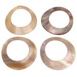 Pendants Shell, Predhë, Petull e ëmbël në formë gjevreku, 44-45x44-45x0.5-1.5mm, : 1.5mm, 20PC/Qese,  Qese