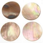 Cabochons Shell, Predhë, Monedhë, 15x15x1-2mm, 200PC/Qese,  Qese