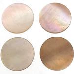 Cabochons Shell, Predhë, Monedhë, 10x10x1-1.5mm, 200PC/Qese,  Qese