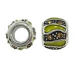 Beads European aliazh zink, Alloy zink, Rondelle, pa karrem & smalt & me diamant i rremë, , nikel çojë \x26amp; kadmium falas, 10x8mm, : 5mm, 10PC/Qese,  Qese
