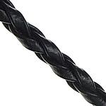 Cord lëkure, PU, e zezë, 3mm, :100Oborr,  Shumë
