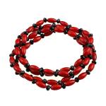 Byzylyk Coral, Coral sintetike, sintetik, i kuq, 8x4mm, :6Inç, 10Fillesat/Qese,  Qese