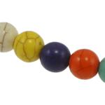 Bruz Beads, Bruz sintetike, Round, ngjyra të përziera, 6mm, : 1mm, : 15.5Inç, 66PC/Fije floku,  15.5Inç,