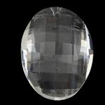 Crystal Pendants, Kristal, Oval, imitim kristal Swarovski, Kristal, 50x36x18mm, : 1.5mm,  PC
