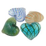Beads lulëzim Lampwork, Zemër, punuar me dorë, ngjyra të përziera, uff0820-25uff09xuff0825-28uff09xuff0813-16uff09mm, : 1-1.5mm, 100PC/Qese,  Qese