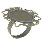 Filigran Brass Ring Base, Tunxh, Ngjyra antike bronz i praruar, asnjë, , nikel çojë \x26amp; kadmium falas, 32x26.8x1.2mm, 19x15.2mm, 5mm, : 17.2mm, : 19x15.2mm, :7, 200PC/Qese,  Qese