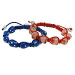 Lampwork Shamballa Bracelets, 10-15mm, :7.5Inç, 12Fillesat/Qese,  Qese
