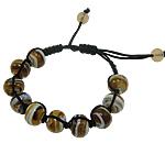 Lampwork Shamballa Bracelets, 9x11mm, :7.5Inç, 12Fillesat/Qese,  Qese