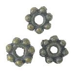 Beads aliazh metalik, Metal Alloy, Lule, 6x6x2mm, : 1.5mm, 3KG/Shumë,  Shumë