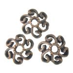 Beads aliazh metalik, Metal Alloy, Ngjyra antike bakrit, 11x11x3.50mm, : 2.5mm, 3KG/Shumë,  Shumë