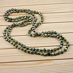 Natürliche Süßwasserperlen Halskette, Natürliche kultivierte Süßwasserperlen, Klumpen, grün, 9-11mm, verkauft per 62 ZollInch Strang