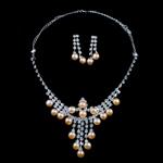 Natyrore kulturuar Pearl ujërave të ëmbla bizhuteri Sets, Pearl kulturuar ujërave të ëmbla, Round, rozë, 8-9mm, 42mm, :17.5Inç,  I vendosur