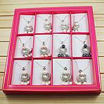 Ujërave të ëmbla Pearl gjerdan Zinxhiri tunxh, Pearl kulturuar ujërave të ëmbla, with Diamant i rremë & Tunxh, Lot, natyror, ngjyra të përziera, 23x52mm, 7-10mm, :15.5Inç, 12Fillesat/Kuti,  Kuti