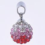 Varëse diamant i rremë, Round, punuar me dorë, me diamant i rremë, multi-colored, 10x19mm, : 3x5mm, 10PC/Qese,  Qese
