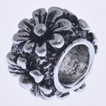 Beads European aliazh zink, Alloy zink, Daulle, pa karrem, , nikel çojë \x26amp; kadmium falas, 10x7mm, : 4.5mm, 10PC/Qese,  Qese