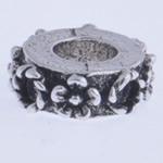 Beads European aliazh zink, Alloy zink, Rondelle, pa karrem, , nikel çojë \x26amp; kadmium falas, 11x4mm, : 4mm, 10PC/Qese,  Qese