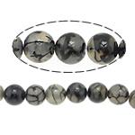 Veins Natyrore Dragon agat Beads, Agat Dragon venë, Round, 10mm, : 1.2mm, : 15.5Inç, 10Fillesat/Shumë,  Shumë