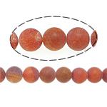 Natürliche Effloresce Achat Perlen, Auswitterung Achat, rund, rot, 16mm, Bohrung:ca. 2mm, Länge:ca. 15.5 ZollInch, 5SträngeStrang/Menge, verkauft von Menge