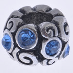 Beads European aliazh zink, Alloy zink, Rondelle, pa karrem & me diamant i rremë, , nikel çojë \x26amp; kadmium falas, 12x8mm, : 5mm, 10PC/Qese,  Qese