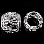 925 Sterling Silver Beads, Daulle, argjend praruar vërtetë, i uritur, 6.80x8mm, : 5mm, 5PC/Qese,  Qese