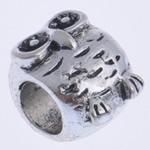 Beads European aliazh zink, Alloy zink, Buf, pa karrem, , nikel çojë \x26amp; kadmium falas, 10x8mm, : 4mm, 10PC/Qese,  Qese