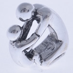 Beads European aliazh zink, Alloy zink, Kafshë, pa karrem, , nikel çojë \x26amp; kadmium falas, 15x12x6mm, : 4.5mm, 10PC/Qese,  Qese