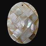 Pendants Natyrore Shell Verdha, Oval, natyror, approx 39x24x6mm, : 1.4mm, 10PC/Qese,  Qese