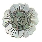 Pendants Natyrore Zi Shell, Black Shell, Lule, approx 32x32x3.5mm, : 1mm, 10PC/Qese,  Qese
