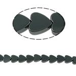 Nicht-magnetische Hämatit Perlen, Non- magnetische Hämatit, Herz, schwarz, Grade A, 6x2mm, Bohrung:ca. 1mm, Länge:15.5 ZollInch, 10SträngeStrang/Menge, verkauft von Menge