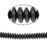 Nicht-magnetische Hämatit Perlen, Non- magnetische Hämatit, Rondell, schwarz, Grade A, 8x3mm, Bohrung:ca. 2mm, Länge:15.5 ZollInch, 10SträngeStrang/Menge, verkauft von Menge