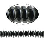 Magnetische Hämatit Perlen, Abakus, schwarz, Grade A, 10x3mm, Bohrung:ca. 2mm, Länge:15.5 ZollInch, 10SträngeStrang/Menge, verkauft von Menge