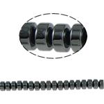 Non-Beads magnetik kuqe e mbylltë, Jo-magnetike kuqe e mbylltë, Rondelle, e zezë, Një, 4x3mm, : 1mm, :15.5Inç, 10Fillesat/Shumë,  Shumë