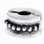 Messing European Clipverschluss, Rondell, frei von Nickel, Blei & Kadmium, 10x6mm, Bohrung:ca. 3mm, verkauft von PC