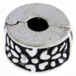 Tunxh European Clip, Rondelle, asnjë, , nikel çojë \x26amp; kadmium falas, 11x6mm, : 3mm, 10PC/Qese,  Qese