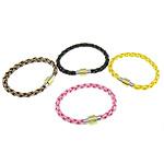 Cord Bracelets PU, Shape Tjera, asnjë, asnjë, ngjyra të përziera, 19x10mm, 6.5mm, :7-8.5Inç, 10Fillesat/Qese,  Qese