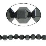Non-Beads magnetik kuqe e mbylltë, Jo-magnetike kuqe e mbylltë, Kolonë, e zezë, Një, 8x8mm, : 1.5mm, :15.5Inç, 10Fillesat/Shumë,  Shumë
