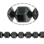 Non-Beads magnetik kuqe e mbylltë, Jo-magnetike kuqe e mbylltë, Kolonë, e zezë, Një, 12x12mm, : 2mm, :15.5Inç, 10Fillesat/Shumë,  Shumë